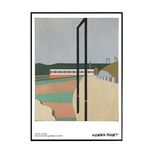Modernamuseet- 공장 ( Factory with telegraph-poles, ca 1930)