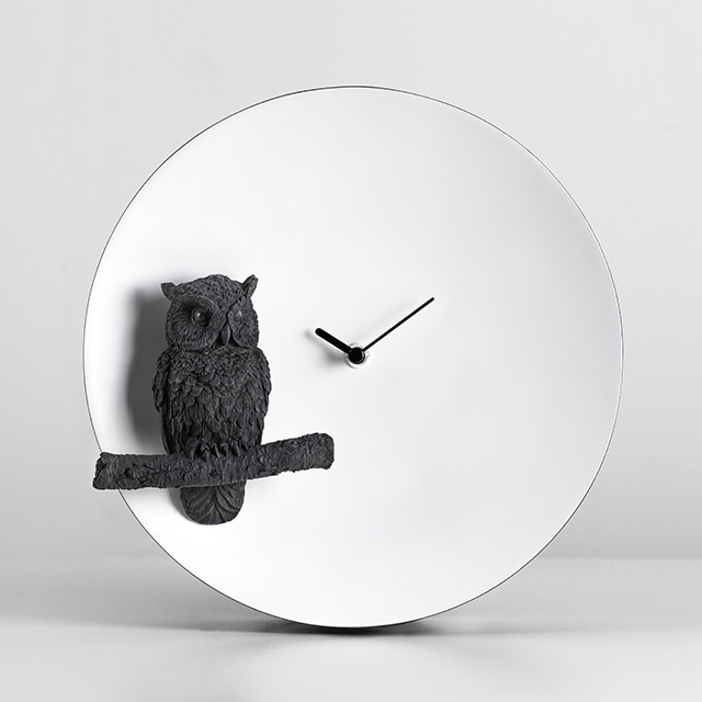 Haoshi Design -  Moon X CLOCK - 부엉이