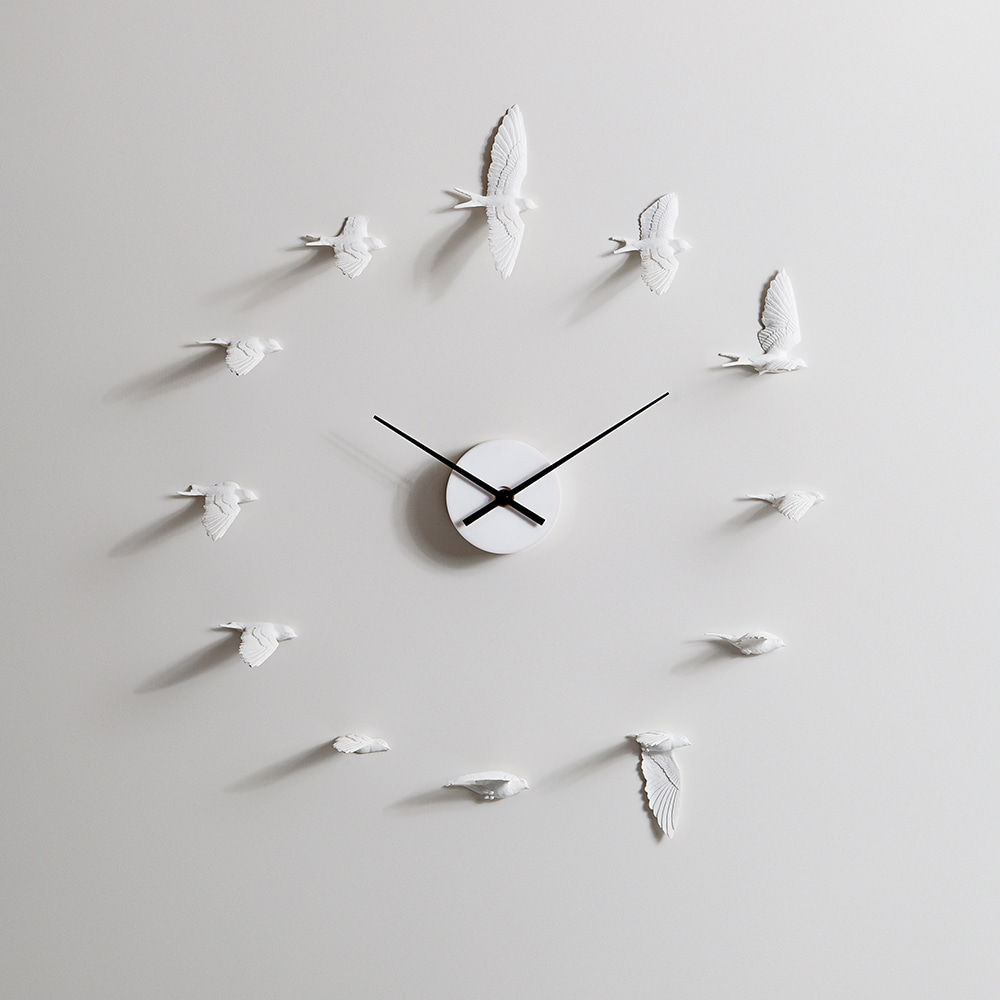 Haoshi Design - 제비 벽시계  Swallow X CLOCK